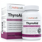 #1 Thyroid Supplement to Support Thyroid Gland Health - Natural Herbal Formula For Thyroid Function With L-Tyrosine, Kelp, Iodine and Ashwaganda to Support a Healthy Metabolism, Promote Weight Loss and Reduce Fatigue - 60 Capsules