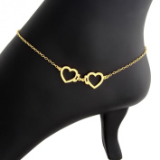 Hand Crafted Heart Shaped Love Hand Cuff Charm Pendant Anklet