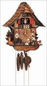 36cm Chalet Cuckoo Clock with Moving Woodchopper, Water Wheel and Dancing Children