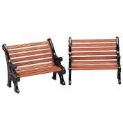 Lemax Set of Two Park Benches