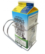 Cara's Casa 1.9l Juice or Milk Carton Holder - Elegant, Easy Grip Holder with Handle Makes Holding and Pouring Trouble-Free. Sturdy Metal Construction. Nice for Home Kitchen Gifts and Housewarming Gift Ideas.