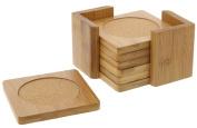 Bamboo Coasters - Juvale Bamboo Drink Coaster - 6 Piece Set