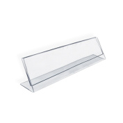 Azar 112703 Horizontal Name Plate Acrylic Sign Holder, 10 Count