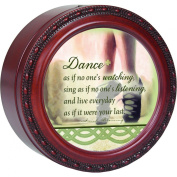 Cottage Garden Dance As If No One's Watching Inspirational Musical Music Jewellery Box