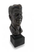 Ronald Reagan Antique Bronze Finish Plaster Bust 43cm .