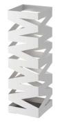 """Rock"" White Metal Modern Umbrella Stand, Accommodates up to 6 Umbrellas , 48cm H"