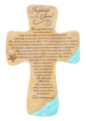 Abbey Press Footprints in the Sand Wall Cross - Inspirational Christian Gift Decor Home - 5546-ABBEY