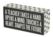 Primitives by Kathy Box Sign, 7.6cm by 15cm , A Teacher
