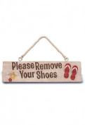Remove Your Shoes Hanging Sign