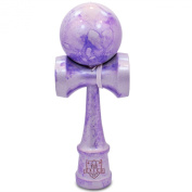Full Silver & Purple Metallic Kendama And Extra String