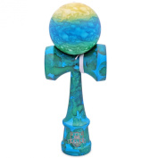 Full Rubberized Earth Marble Kendama With Extra String