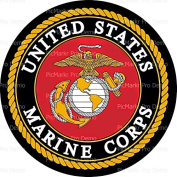 20cm Round Cake - United States Marine Corps Emblem - Edible Cake or Cupcake Topper - D10082