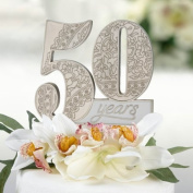 Lillian Rose CT552 50 50th Anniversary Cake Pick, 10cm by 8.9cm