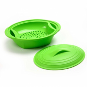 Norpro Silicone Steamer with Insert, Green, Set of 2