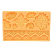 Patisse 02059 Silicone Fondant Mat, Orange