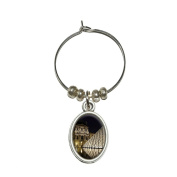 Louvre Museum Paris France Wine Glass Oval Charm Drink Marker