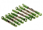 Integy T3465GREEN Billet Machined Turnbuckle & Pushrod Set (8) 1/16 Traxxas Slash & Rally