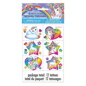 Rainbow Majesty by Lisa Frank Tattoo Sheets, 2ct
