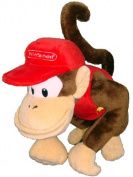 Nintendo Official Super Mario Diddy Kong Plush, 15cm