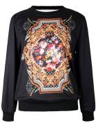 THENICE Women's Digital Print Pullovers Sweatershirts T Shirts