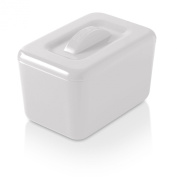 Zeal Melamine Insulated Butter Dish with Lid - White