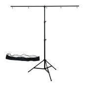 Linco Lincostore Zenith Portable T-shape Background Backdrop Stand Kit 1.5x2m - 1.5m Wide (Fixed) and 2m High (Adjustable From 0.75m to 2m High)- Lightweight Only 1.8kg Easy to Carry and Storage