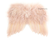 Natural Feather Angel Butterfly Wings, Newborn, Baby, Photo prop- Colour