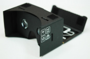 Google Cardboard @ 45mm Focal Length Virtual Reality Google Cardboard with Printed Instructions and Easy to Follow Numbered Tabs (WITH NFC and FREE HEAD-STRAP) Black