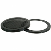 PAIR 25cm 2-Piece Steel Mesh Speaker Subwoofer Grill - Black