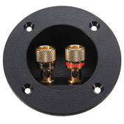PIXNOR DIY Home Car Stereo 2-Way Speaker Box Terminal Binding Post Round Spring Cup Connector Subwoofer Plug