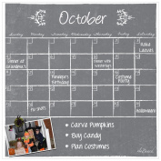 Dry Erase Magnet Calendar Grey