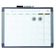 Quartet 1 Month Calendar and Magnetic Dry Erase Whiteboard, Plastic Frame, Colours May Vary