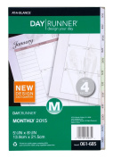 Day Runner Nature Monthly Desk Calendar Refill 2015, 14cm x 22cm Page Size