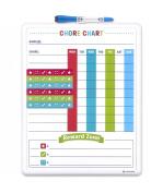 U Brands Contempo Magnetic Dry Erase Chore Chart, 28cm x 36cm , White Frame