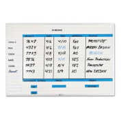 Magna Visual NMW-3648G Magna Visual Changeable Planner Kit, Porcelain-On-Steel, 48x36, WE/Silver Frame