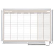 MasterVision MasterVision Weekly Planner, 36x24, Aluminium Frame