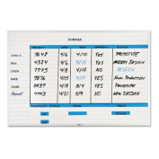 Magna Visual NMW-2436G Magna Visual Changeable Planner Kit, Porcelain-On-Steel, 36x24, WE/Silver Frame