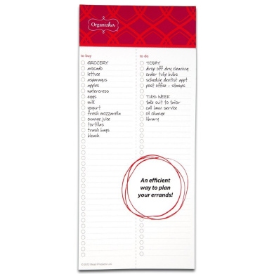 Mead Organizher To-Do Magnetic Notepad, 10cm x 23cm , 75 Sheets Per Pad (57123)
