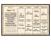 Dry Erase Magnet Weekly Calendar Wheat