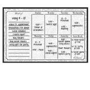 Dry Erase Magnet Weekly Calendar Paisley