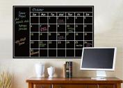 Chalkboard Calendar Wall Sticker - Blackboard Organiser Decal