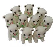 KingWinX Baby Rubber Bath Toys, Pack of 10 pcs Pandas