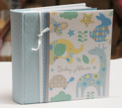 Baby Boy Blue Slip In Case Memo Photo Album 10cm x 15cm For 200 Photos - Woodland Animals - Ideal Gift