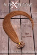 200 x 1g x 50cm Indian Remy 100% Human Hair U-tip Extensions / Real Hair strands / hair extension with free accessories - light brown