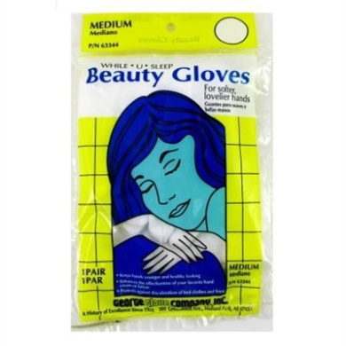 Beauty Gloves (Cotton) Reg/Med (12 Pieces)