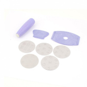 Purple Double Sided Nail Art Stamping Stamp Scraper Beauty Tool 8 in 1