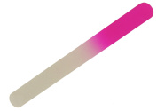 Glass Nail Pedicure File - Round - Fine Grain - 19.5 cm in Pink