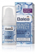 Balea Beauty Effect Eye-Contour & Lip Serum - Smoothes, Firms & Gives Long-Lasting Moisture - Not Tested on Animals - 15ml