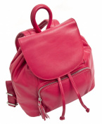 Prime Hide Stylish Ladies Soft Red Leather Backpack Leather Rucksack 914