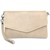 CASPAR TA322 Womens Napa Leather Evening Clutch
